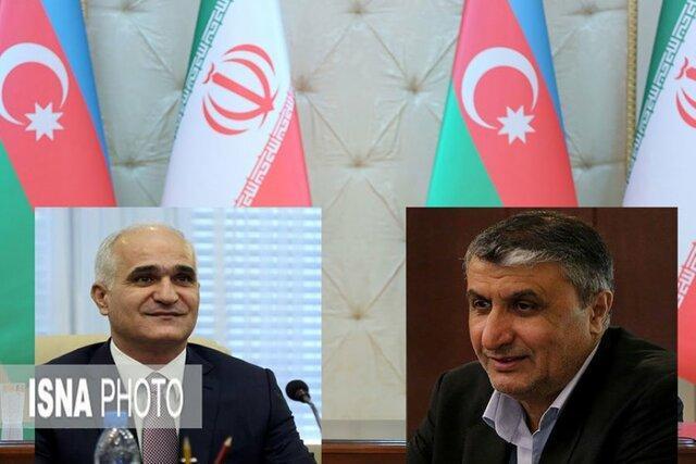 بازدید وزرای راه ایران و اقتصاد آذربایجان از بارانداز ریلی آستارا