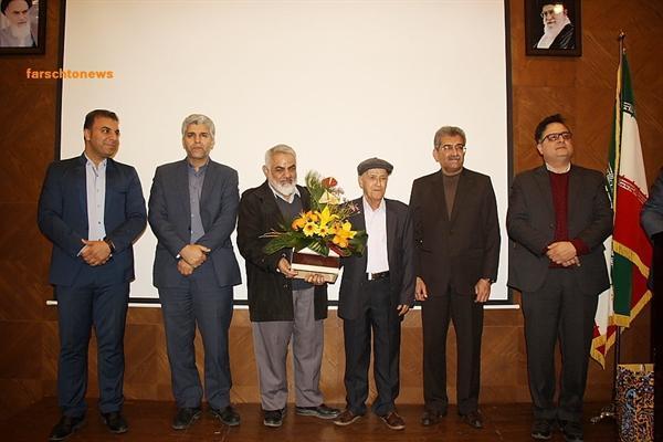 آیین تجلیل از استاد برجسته هنر کاشی هفت رنگ شیراز برگزار گشت