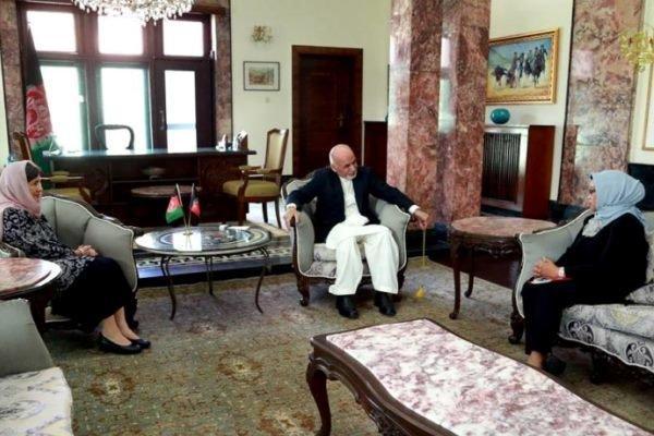 اشرف غنی با وزیر خارجه اندونزی دیدار و مصاحبه کرد