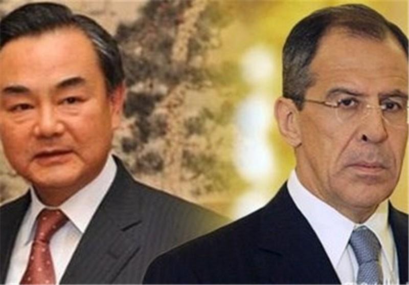 مذاکره تلفنی وزرای خارجه روسیه و چین در مورد مسائل بین المللی