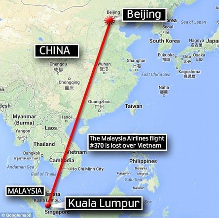 هواپیمای مفقود شده مالزی با 239 سرنشین در آبهای ویتنام سقوط نموده است