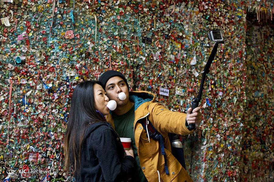دیوار آدامس ؛ جاذبه گردشگری عجیب در سیاتل ، زباله دانی که اثر هنری شد