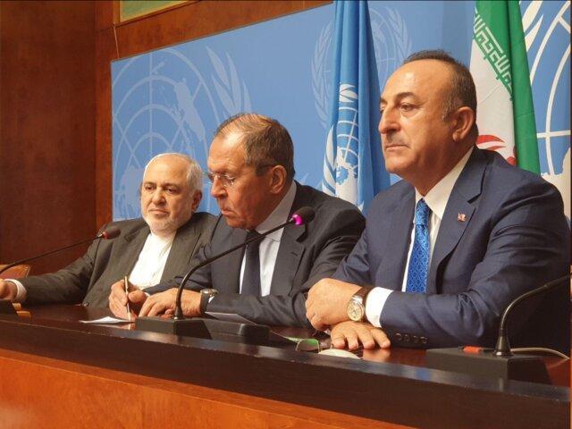 بیانیه مشترک وزیران امور خارجه ایران، روسیه و ترکیه بعد از نشست ژنو