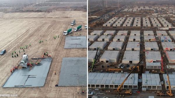 (ویدئو) ساخت یک قرنطینه گاه فوری در چین
