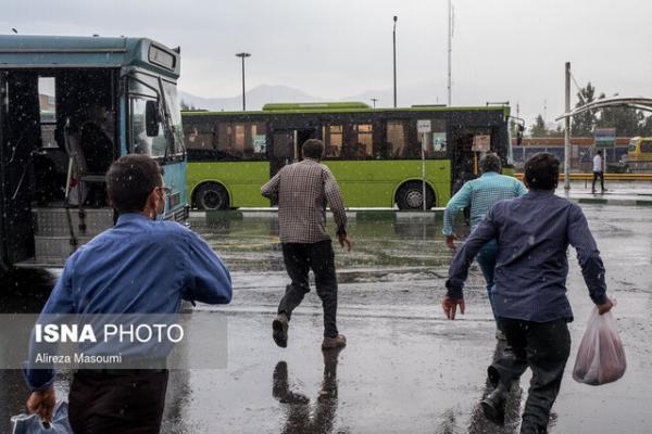 تداوم رگبار و رعد و برق در 13 استان کشور